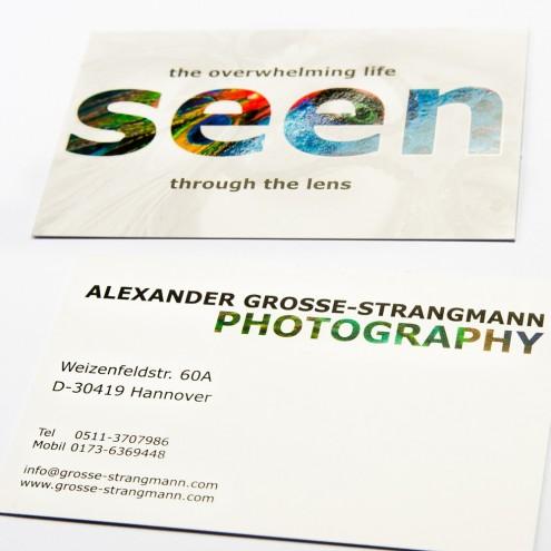 Visitenkarte Archive Alexander Grosse Strangmann