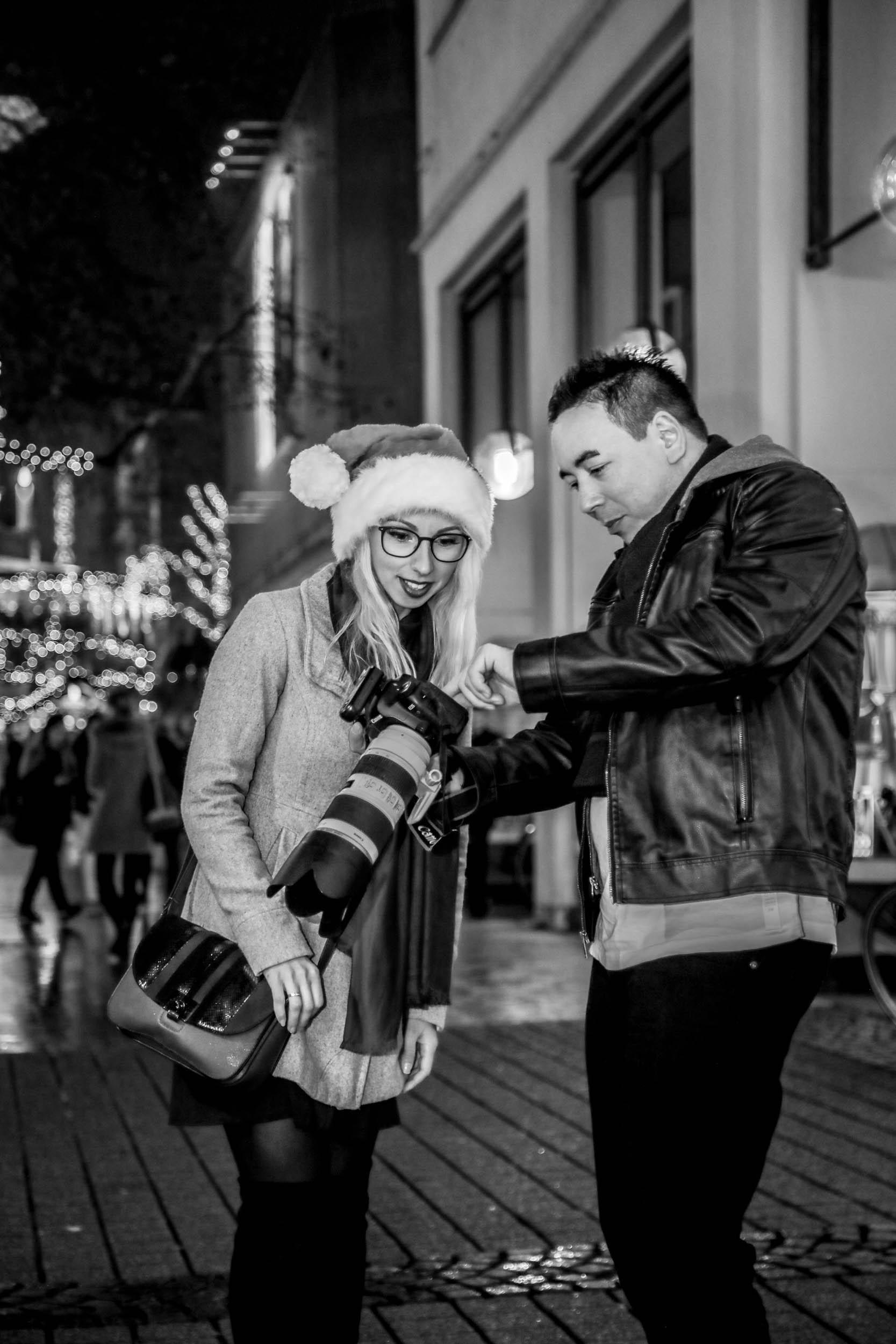 Weihnachtsmarkt-Fotoshooting