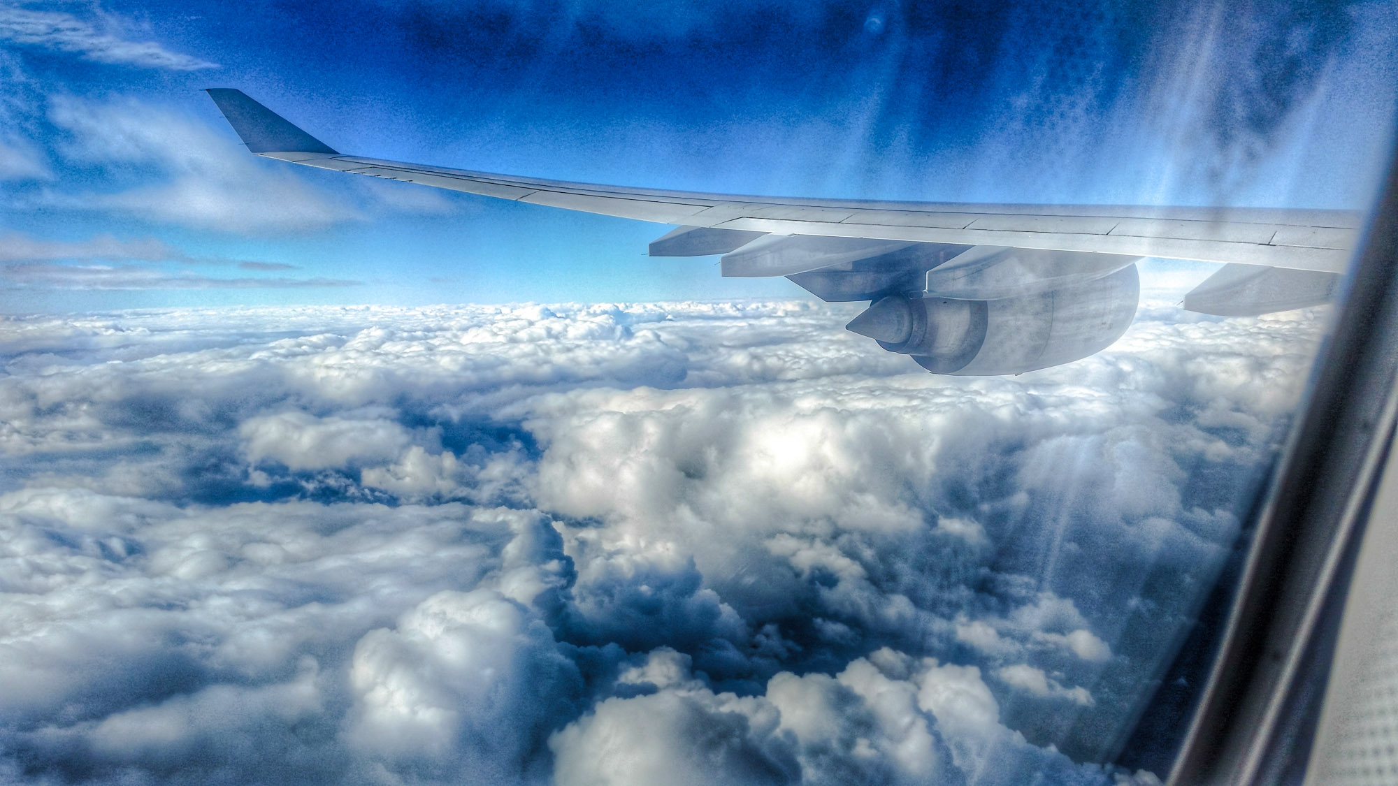 Handyfotos aus dem Flugzeug