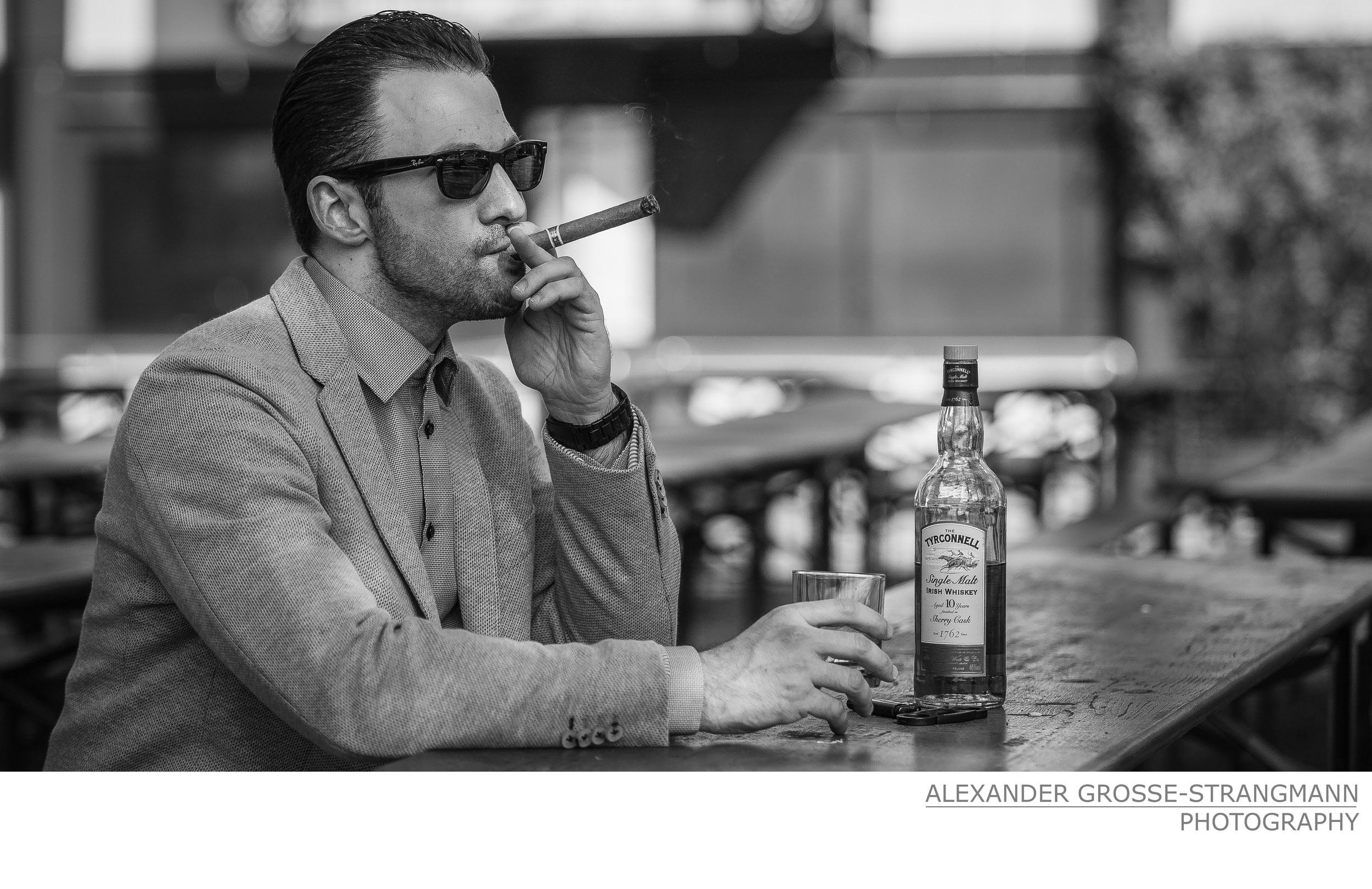 Fotoshooting Zigarre Nordkurve