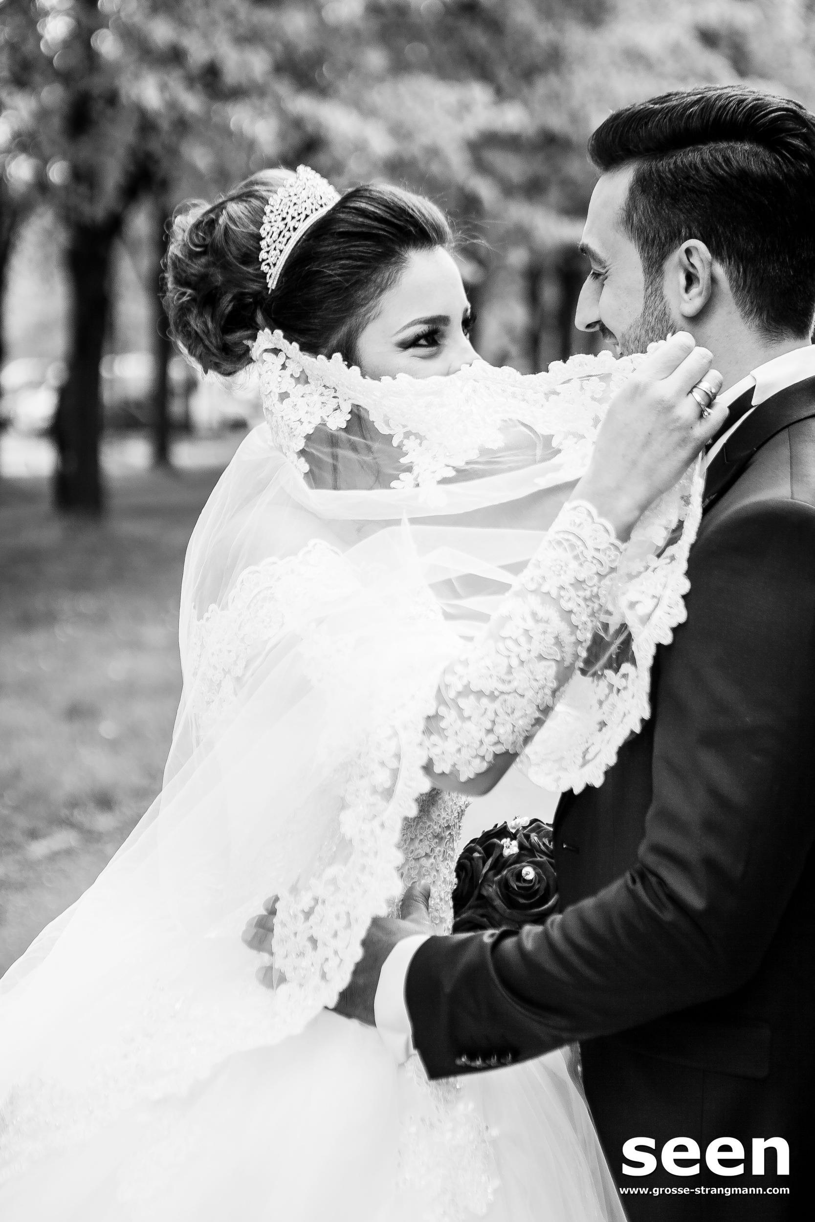 Brautpaar Schleier
