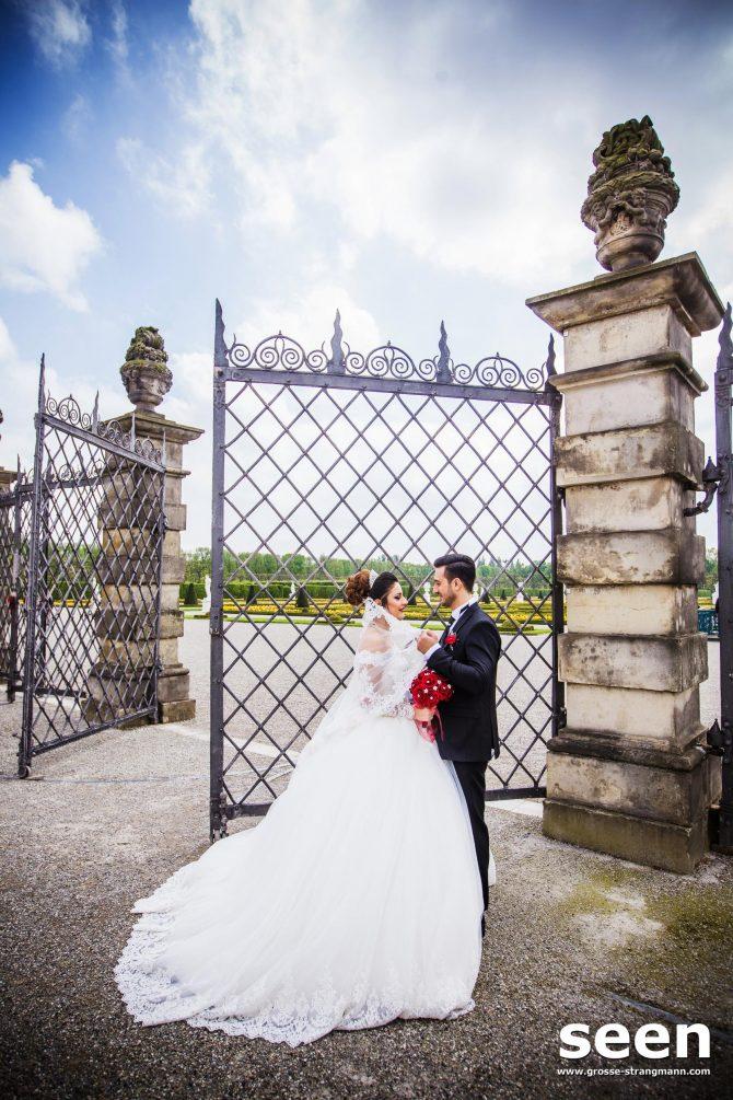 Hochzeitsfotos Tor Herrenhausen